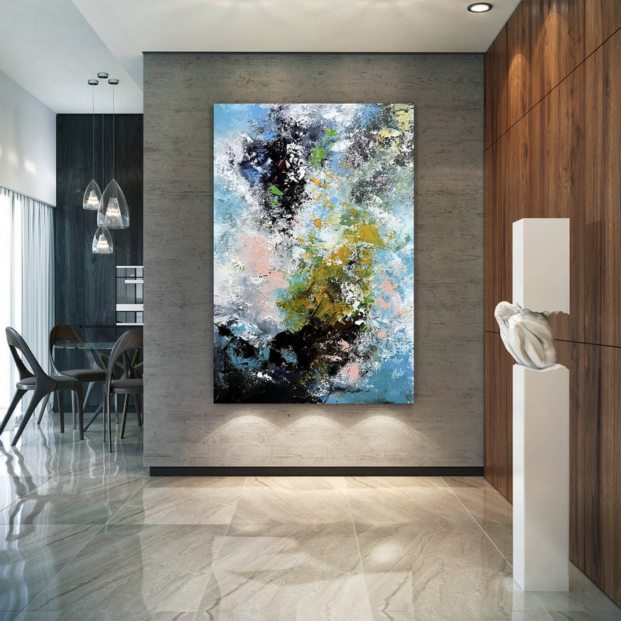 Large Modern Wall Art Painting,Extra Large Wall Art,large acrylic canvas,oil hand painting,large wall art decor BNc068