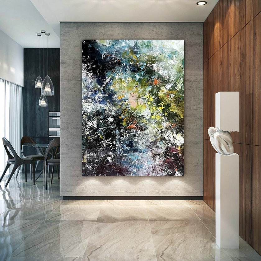 Large Painting on Canvas,Extra Large Painting on Canvas,texture painting,painting canvas art,large interior decor BNc067