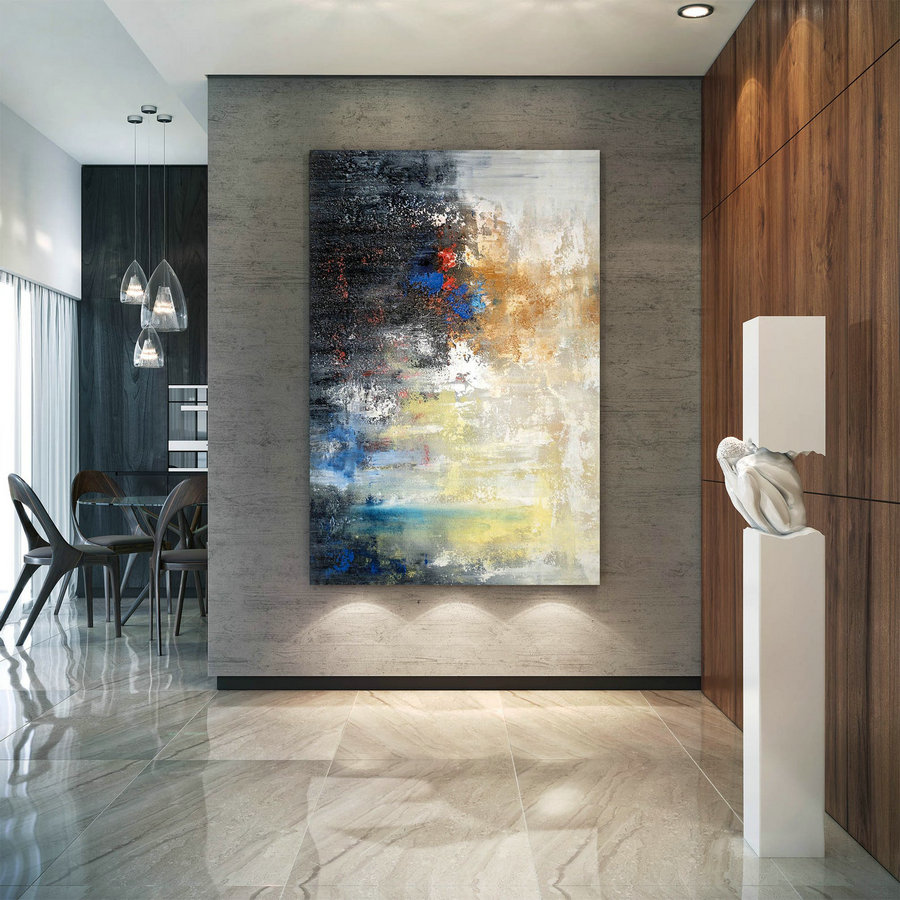 Large Abstract Painting,Large Abstract Painting on Canvas,painting for home,xl abstract painting,large oil art BNC036
