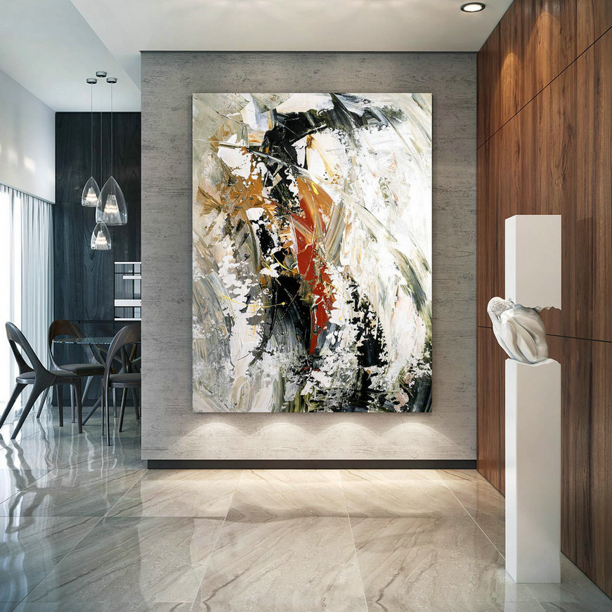 Large Abstract Painting,Modern abstract painting,painting for home,bathroom wall art,modern abstract,acrylic textured art BNc015