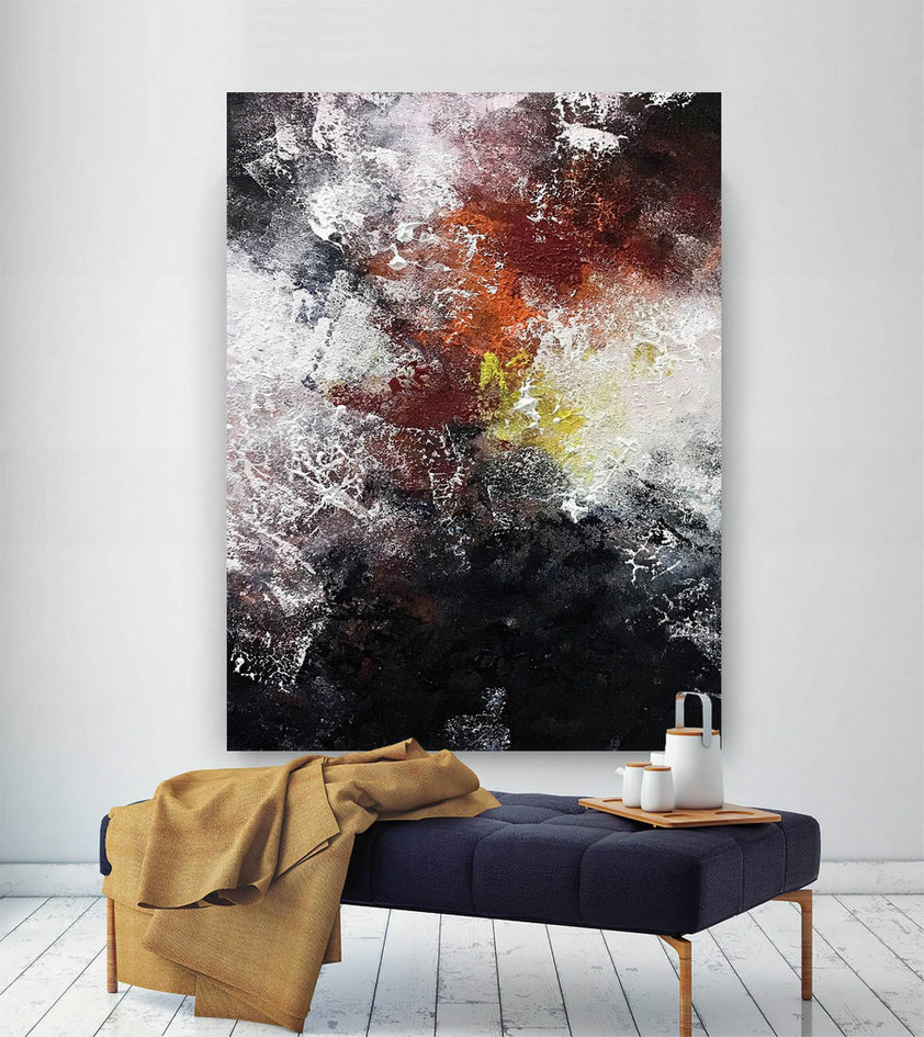 Large Abstract Painting,Original Painting Large Paintings,above bed decor,oil hand painting,large interior decor B2c024