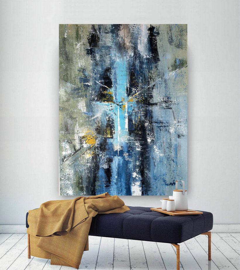 Large Painting on Canvas,Original Painting on Canvas,huge canvas art,oil canvas art,oil hand painting,modern textured BNc065