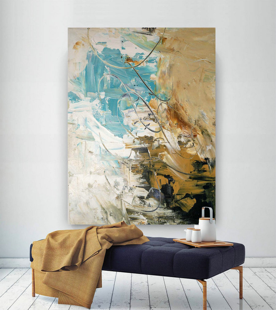 Large Abstract Painting,Modern abstract painting,painting for home,huge canvas art,abstract originals,textures painting BNc058