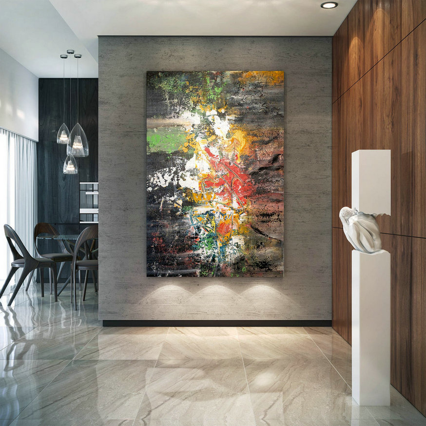 Large Modern Wall Art Painting,Large Abstract wall art,painting colorful,modern abstract,canvas wall art,modern textured art BNC040