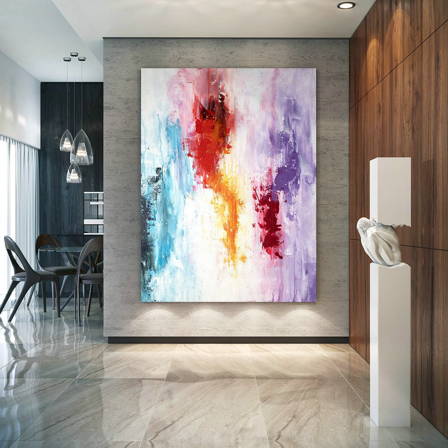 Large Modern Wall Art Painting,Large Abstract wall art,painting colorful,xl abstract painting,bedroom wall art BNc007