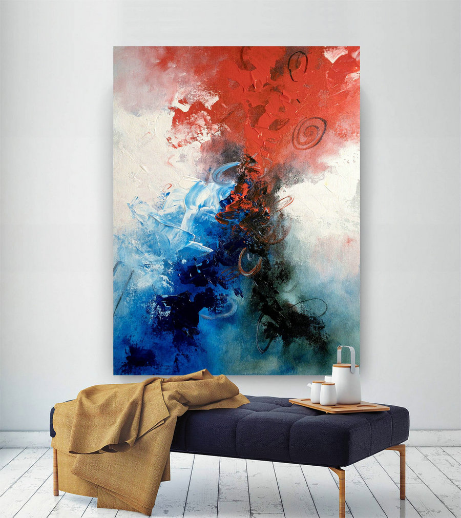 Large Abstract Painting,Modern abstract painting,painting colorful,abstract canvas art,colorful abstract,textured wall decor BNc005