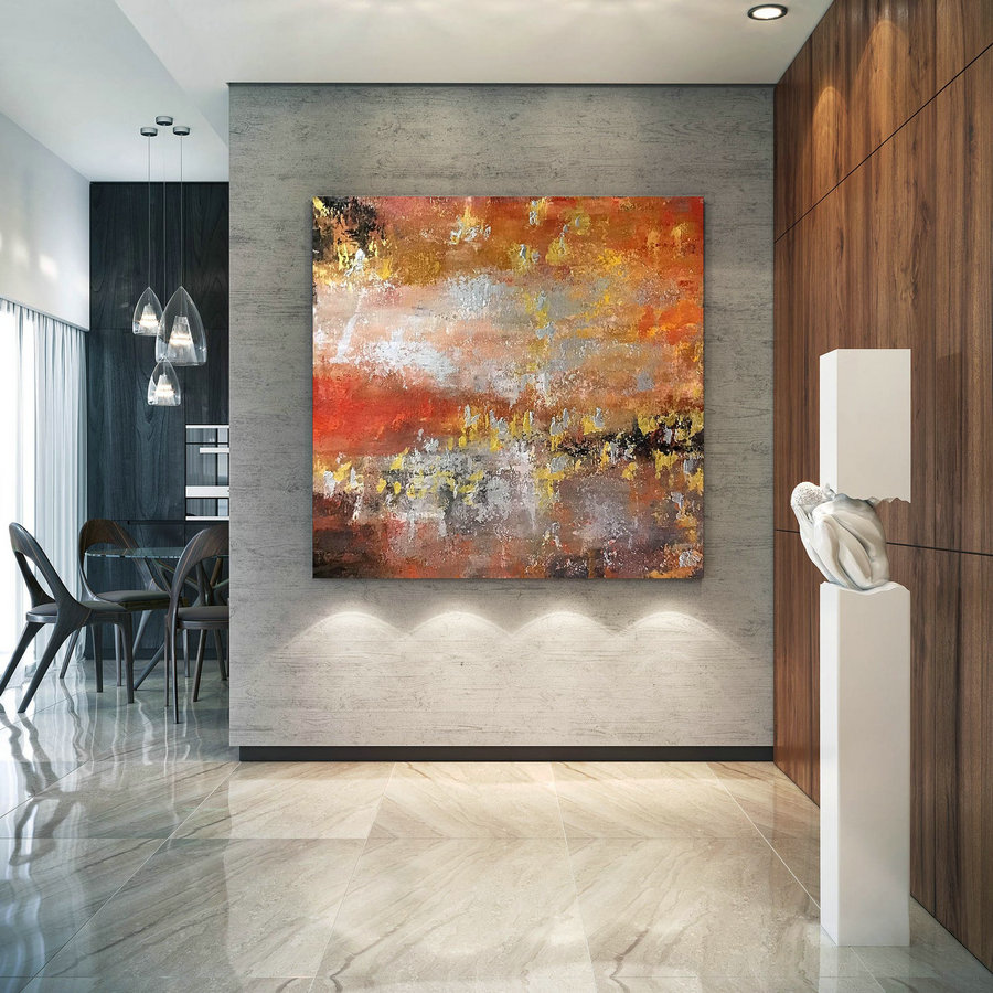 Large Abstract wall art,Original Abstract wall art,original abstract,bright painting art,office wall art,abstract texture art B2c009