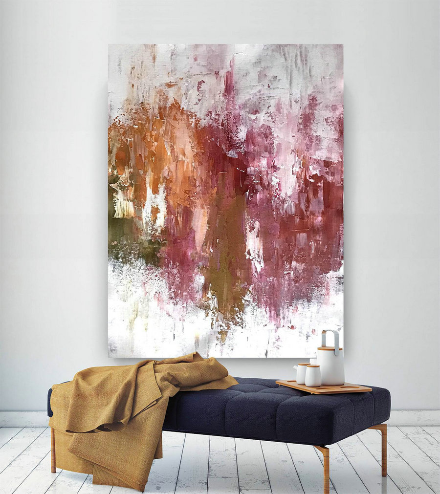 Large Abstract Canvas Art,Extra Large Abstract Canvas Art,colorful abstract,huge canvas art,large interior art B2c004