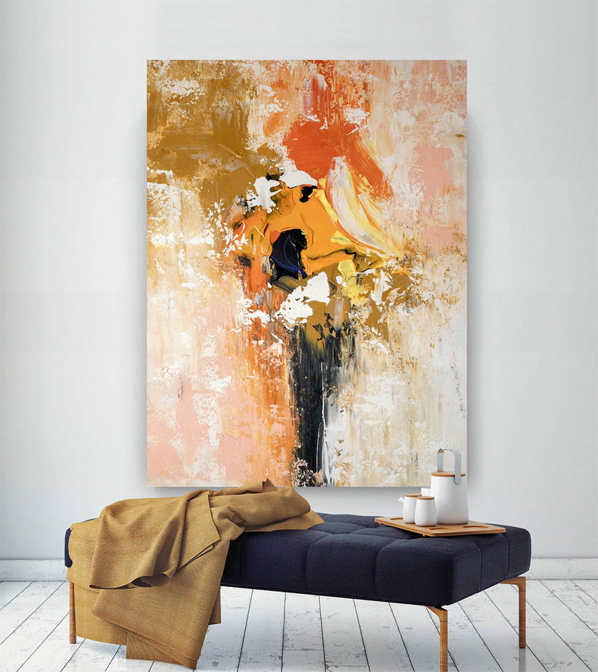 Large Abstract Painting,painting original,abstract decor,extra large art,modern textured BNc061