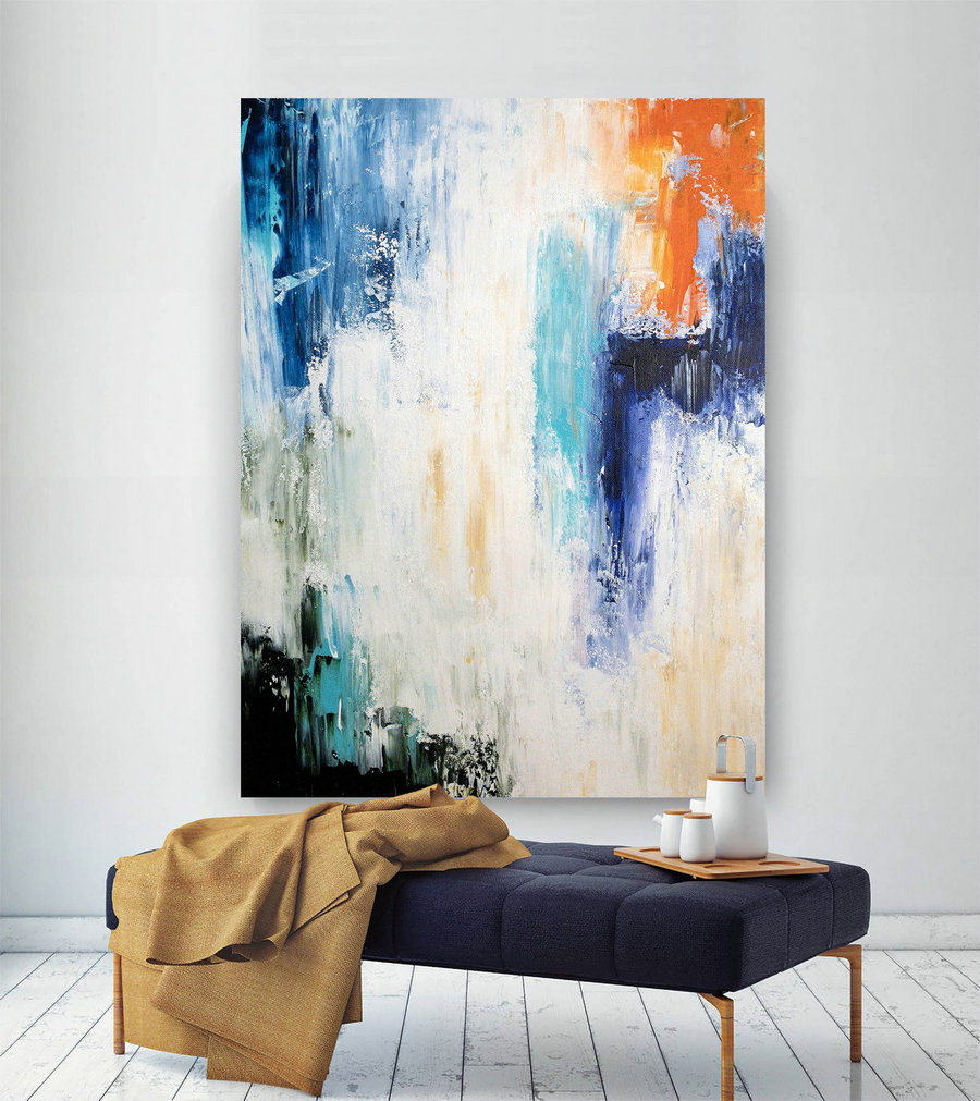 Large Painting on Canvas,Original Painting on Canvas,art paintings,paintings canvas,gold canvas painting,texture wall art BNc060