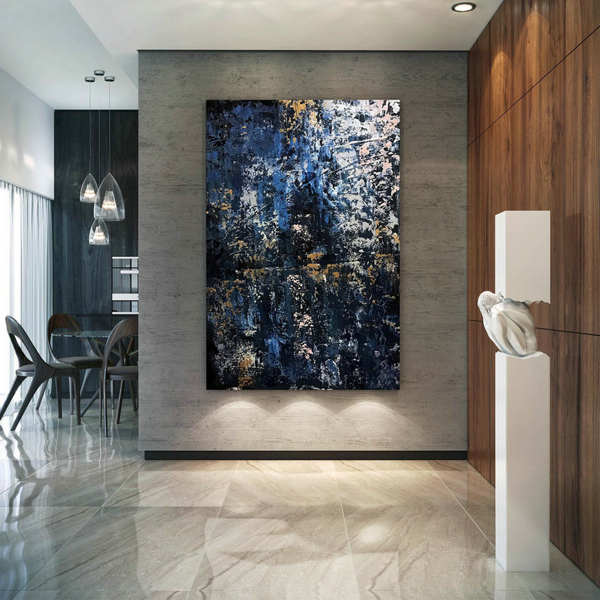 Large Abstract Painting,Modern abstract painting,painting for home,bathroom wall art,modern abstract,acrylic textured art B2c015