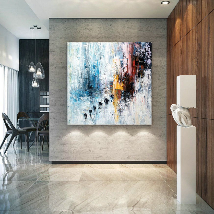 Large Modern Wall Art Painting,Large Abstract Painting on Canvas,unique painting art,painting on canvas,canvas wall art BNc022