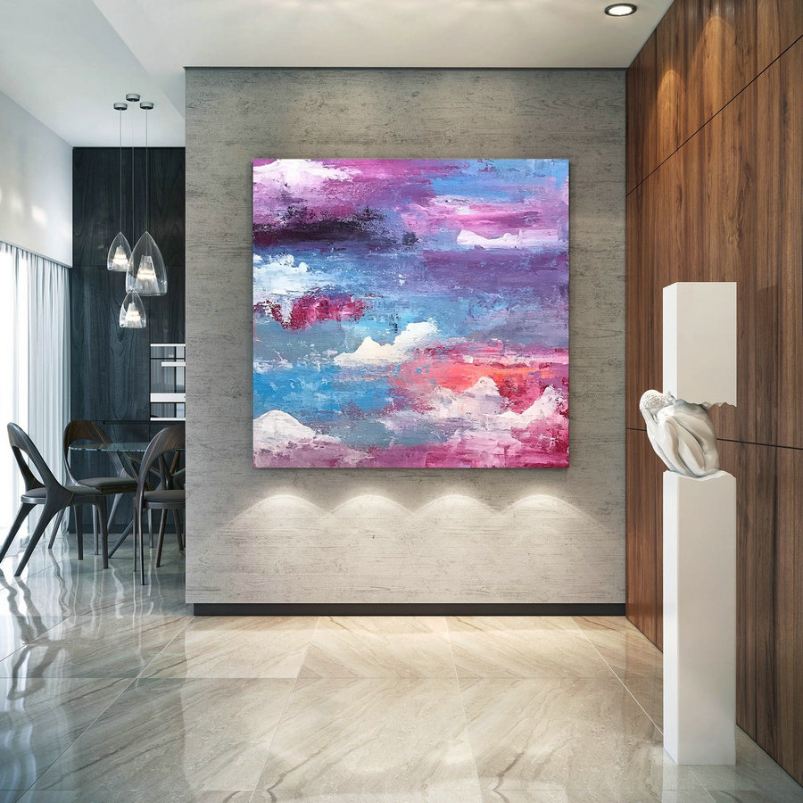Large Abstract Painting,Modern abstract painting,huge canvas painting,office decor set,abstract decor,textures painting D2c010