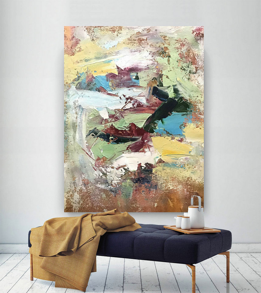 Large Painting on Canvas,Original Painting on Canvas,unique painting art,oil paintings,modern oil canvas,acrylic textured D2c009