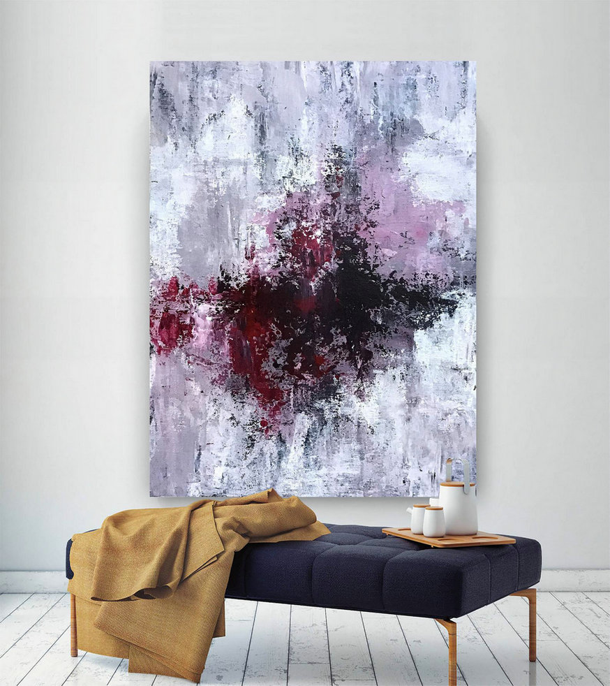 Large Modern Wall Art Painting,Large Abstract wall art,bright painting art,abstract painting,canvas wall art D2C006