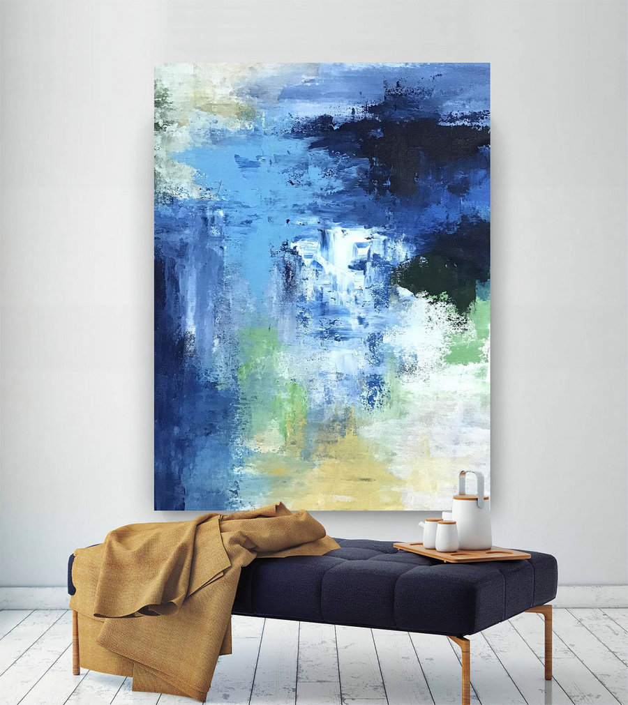 Large Abstract wall art,Original Abstract wall art,large abstract art,painting canvas art,living room wall art DIc056
