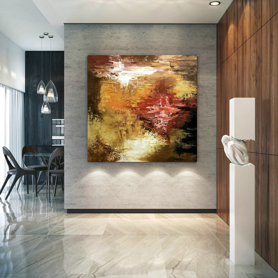 Large Painting on Canvas,Original Painting on Canvas,abstract canvas art,acrylic abstract,painting colorful,textured art DIc053