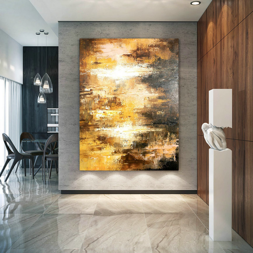Large Abstract Painting,Modern abstract painting,painting home decor,gold canvas painting,colorful abstract,abstract texture art DIC028