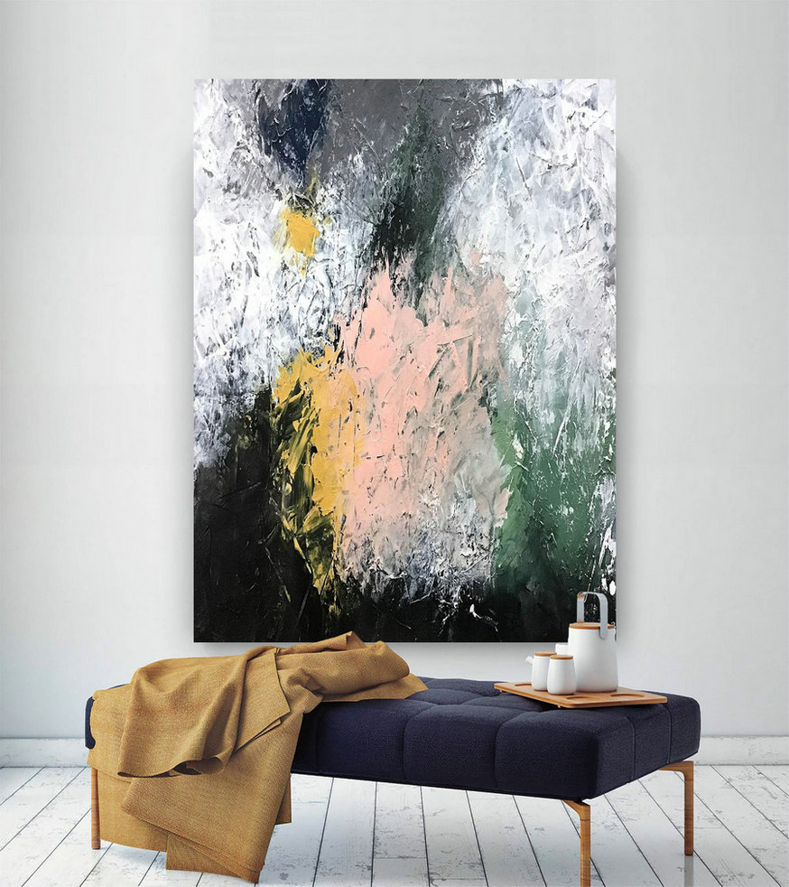 Large Abstract Painting,square painting,oil large painting,original abstract,modern textured D2c021