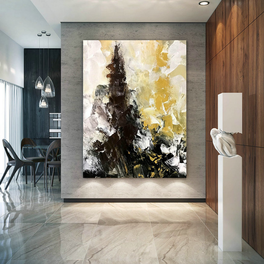 Original Abstract Canvas Art,Large Abstract Canvas Art,unique bedroom decor,abstract decor,modern wall canvas D2c019