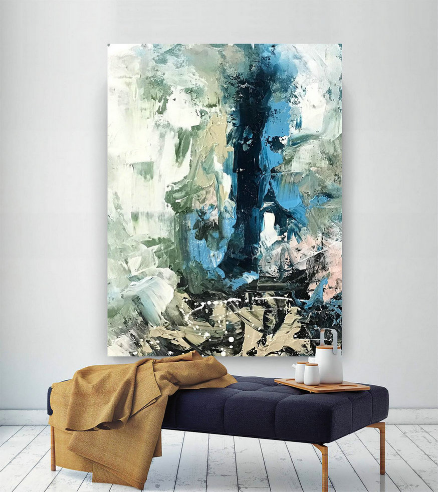 Large Painting on Canvas,Extra Large Painting on Canvas,large art on canvas,square painting,large modern canvas D2c017