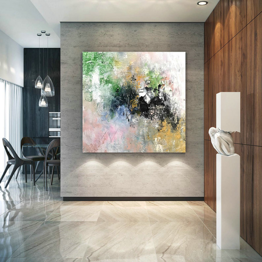 Large Abstract Artwork,Large Abstract Painting,acrylic abstract,oil hand painting,artwork display,original textured BNc074