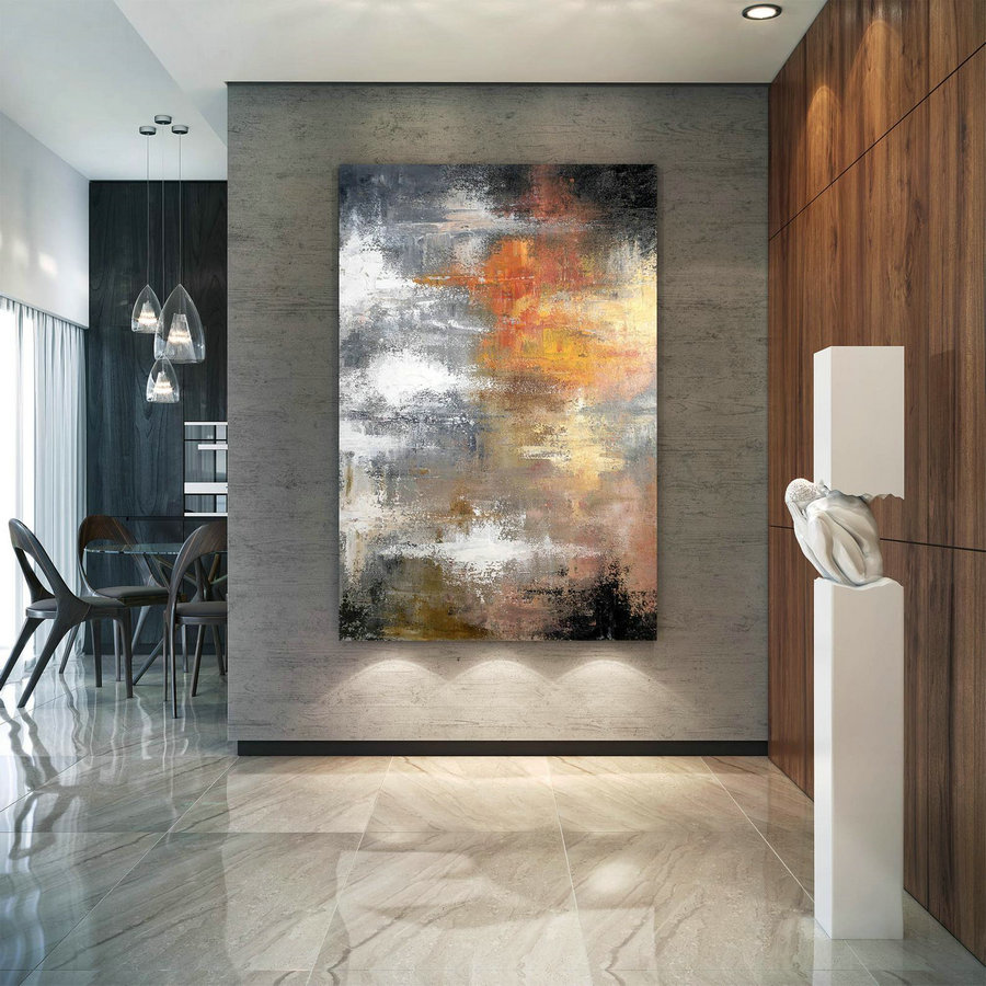 Large Abstract Painting,Large Abstract Painting on Canvas,painting colorful,colorful abstract,above bed decor DIc0029