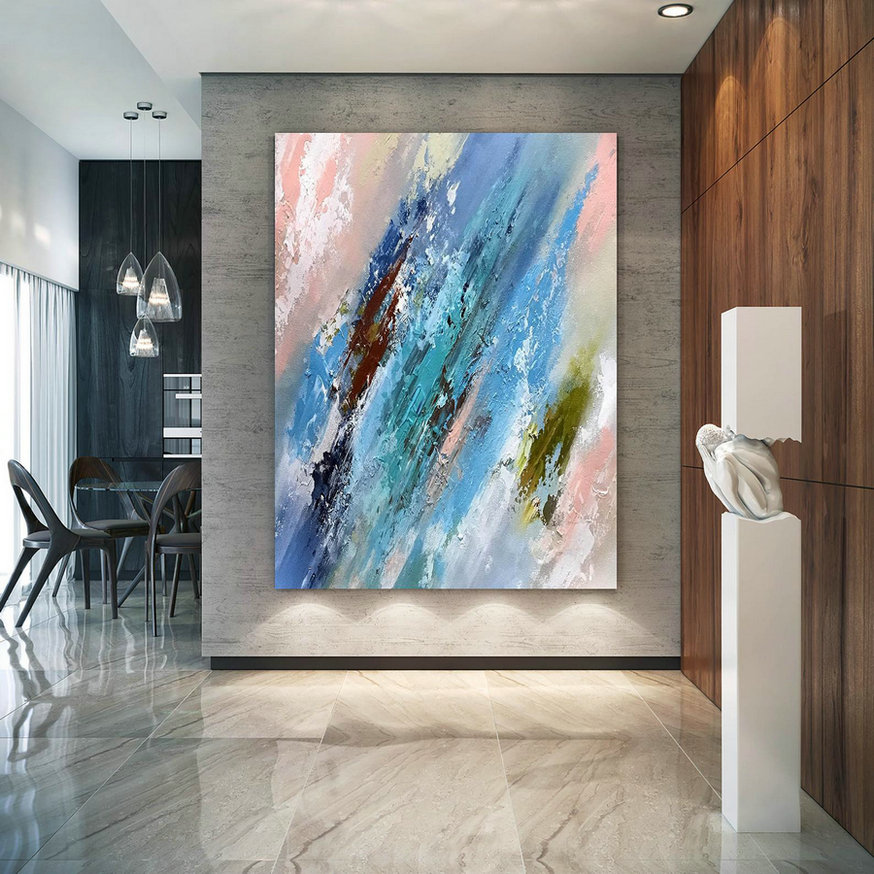 Large Abstract Painting on Canvas,Large Painting on Canvas,acrylics paintings,large art on canvas,industrial decor D2c031