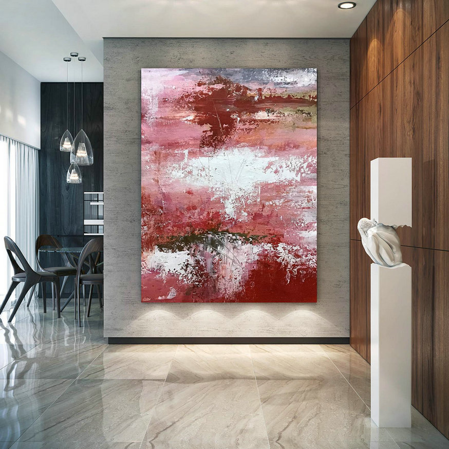 Large Abstract Painting,Modern abstract painting,texture painting,modern oil canvas,colorful abstract,textured paintings D2c003