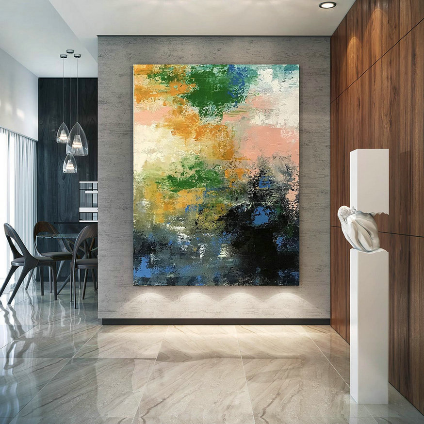 Large Abstract Painting,Modern abstract painting,texture painting,palette knife canvas,colorful abstract,texture wall art BNc075