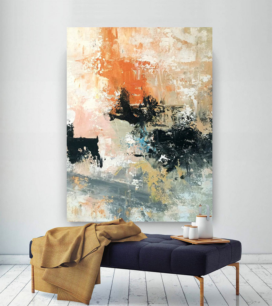 Large Abstract wall art,Extra Large Abstract wall art,large interior decor,colorful abstract,gallery wall art BNc073