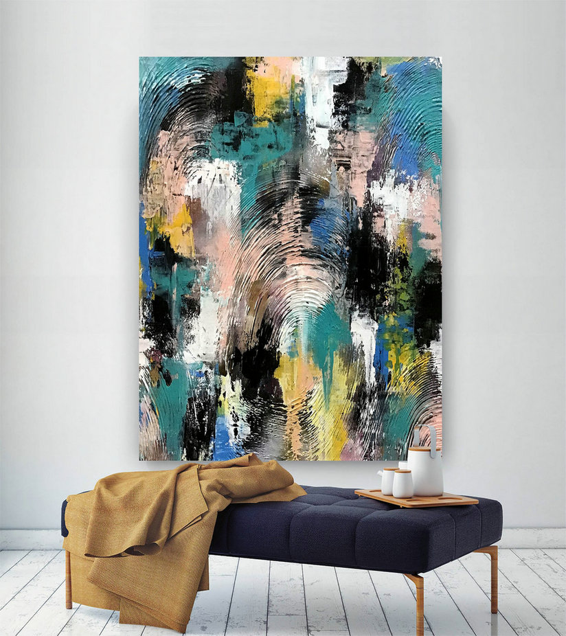 Large Modern Wall Art Painting,Large Abstract wall art,huge canvas painting,original abstract,best wall art,abstract texture art D2c025