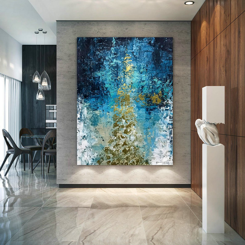 Large Abstract Painting,Modern abstract painting,oil hand painting,living room wall art,modern abstract,texture wall art D2C013