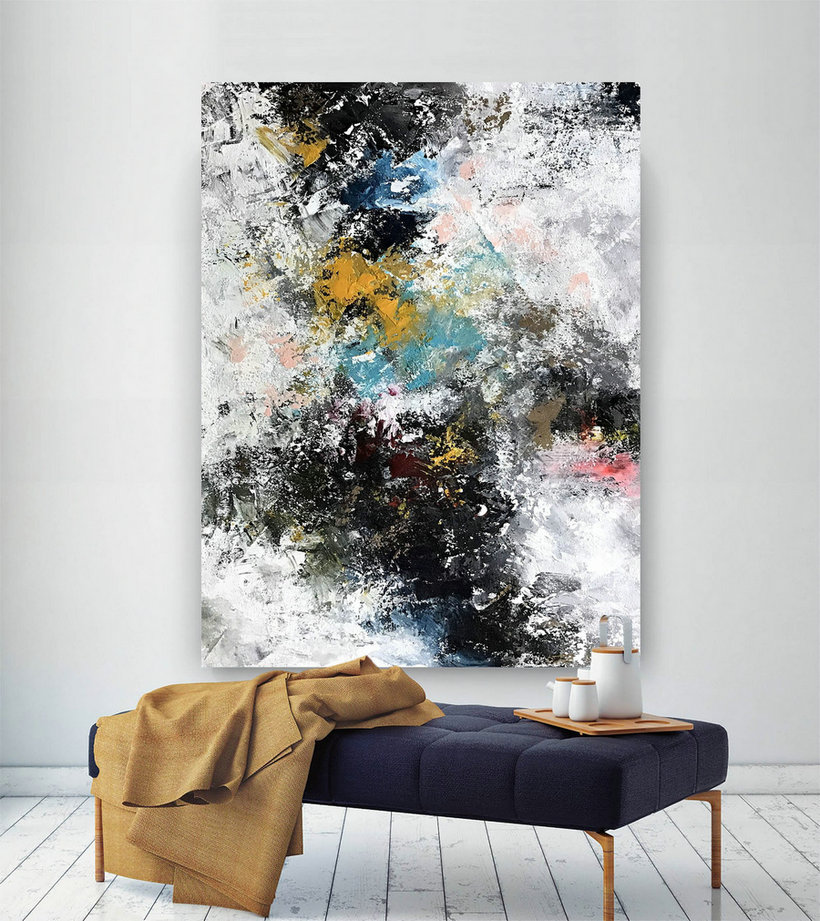 Large Abstract wall art,Original Abstract wall art,xl abstract painting,abstract canvas art,abstract wall art BNc069