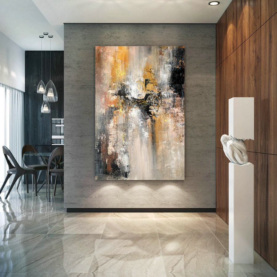 Large Abstract Painting,Modern abstract painting,original painting,bathroom wall art,xl abstract painting,acrylic textured art BNC032