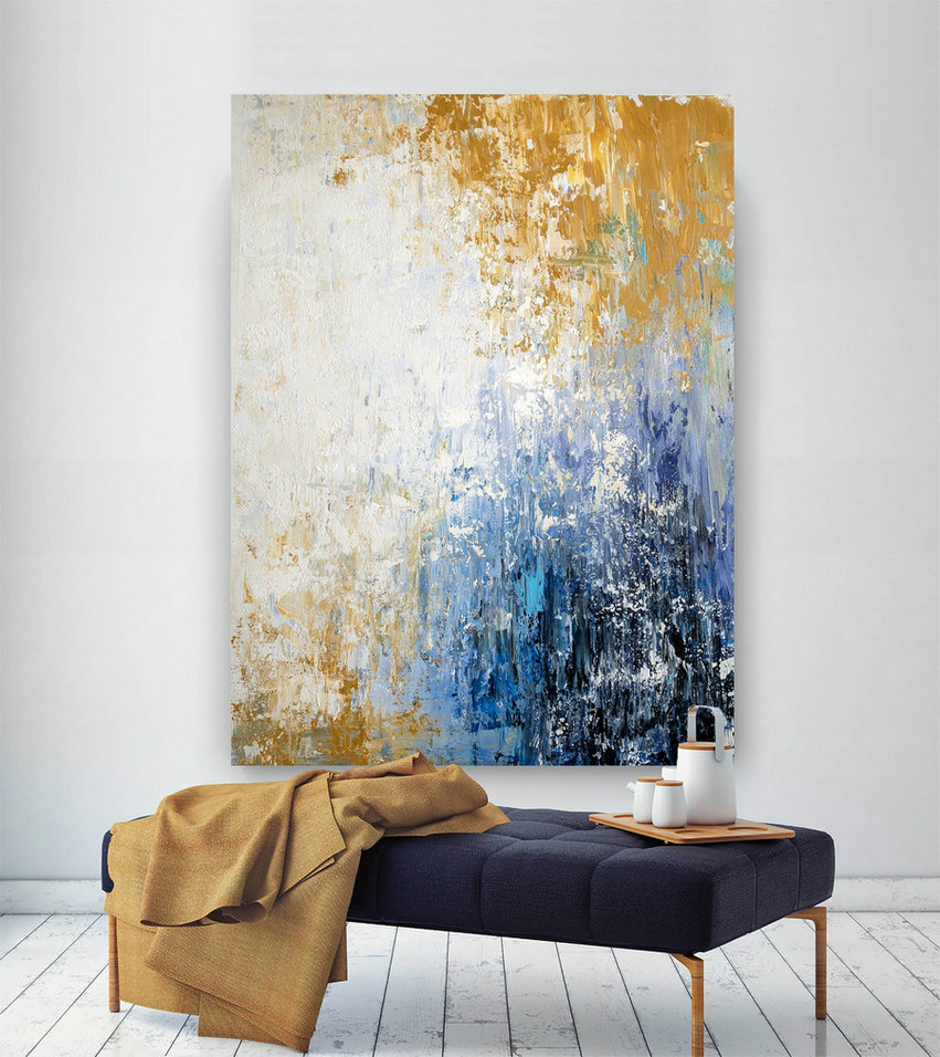 Large Abstract Painting,Modern abstract painting,bright painting art,knife oil painting,abstract painting,acrylic textured BNc030