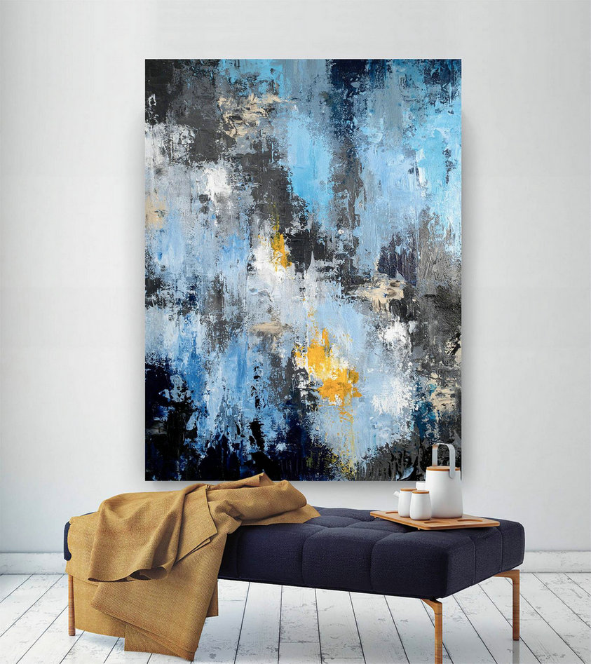 Extra Large Abstract Painting - Modern Art, New Home Decor,Canvas Art, Acrylic Painting ,Textured Art, Contemporary Art,Large Artwork BNc017