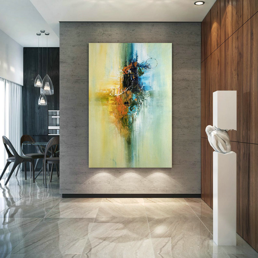 Large Abstract Canvas Art,Extra Large Abstract Canvas Art,colorful abstract,huge canvas art,large interior art BNc004