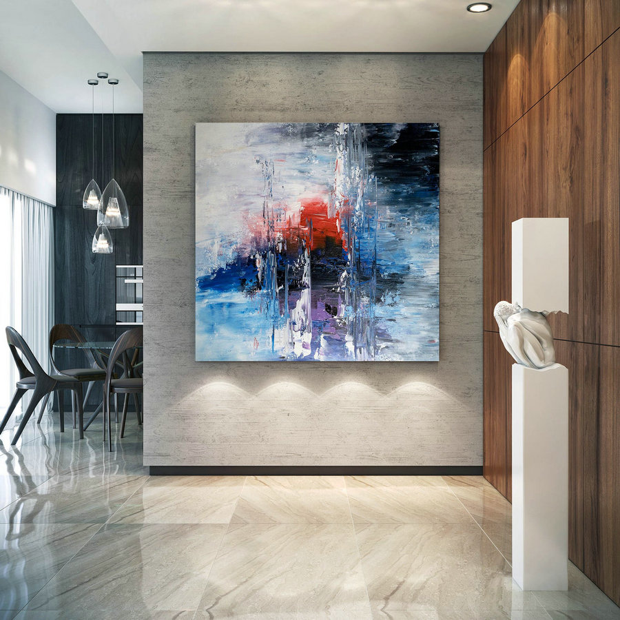 Large Abstract Painting,Modern abstract painting,livingroom decor,square painting,original abstract,textured art BNc002