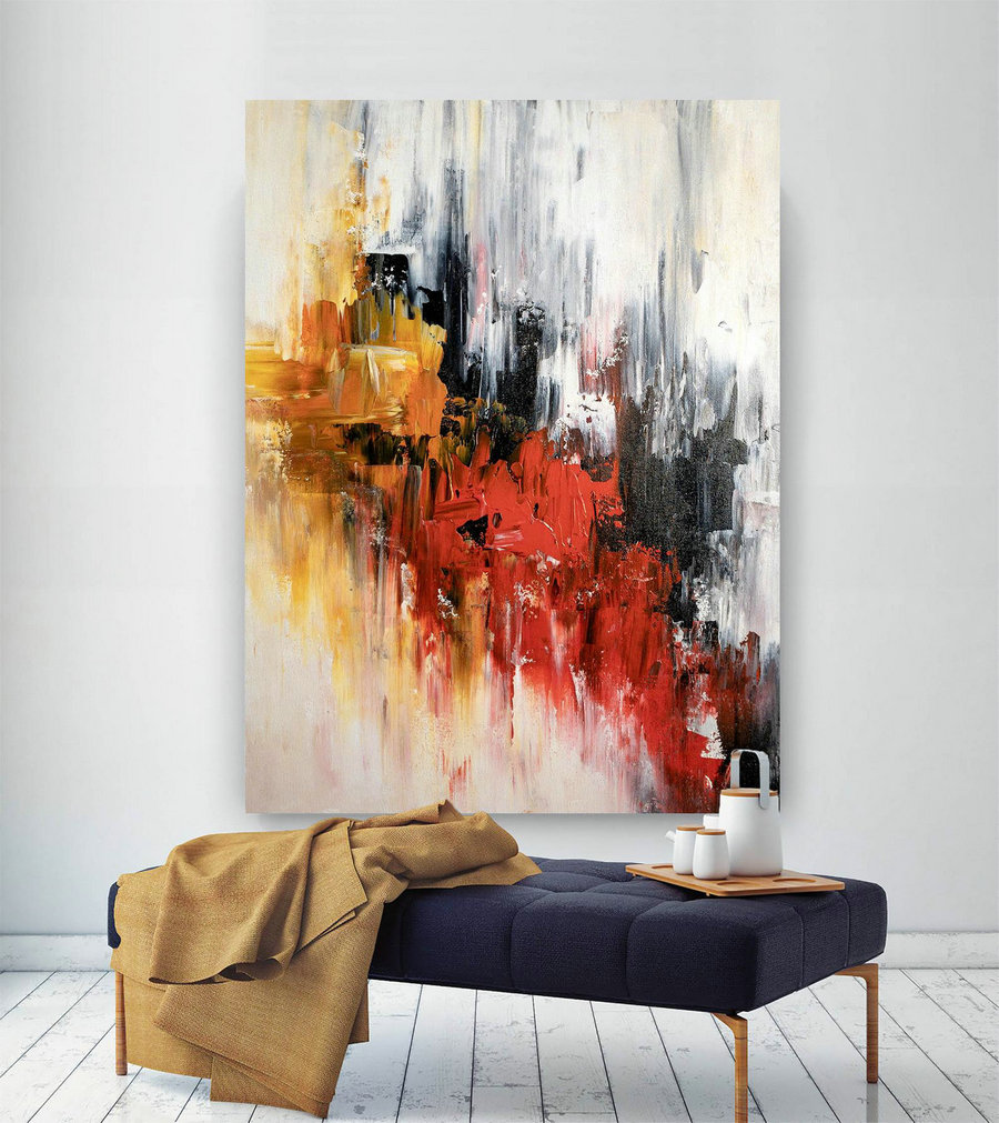 Large Abstract Painting,Modern abstract painting,bright painting art,painting on canvas,abstract painting,abstract texture art BNc001