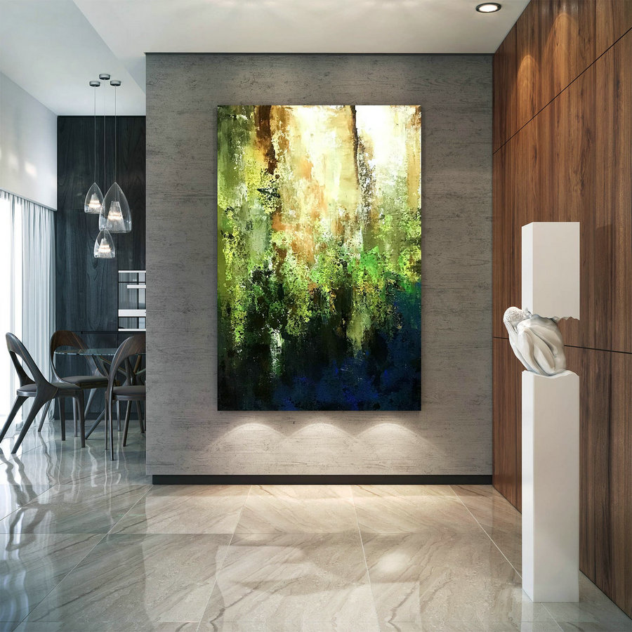 Large Modern Wall Art Painting,Large Abstract wall art,painting colorful,xl abstract painting,bedroom wall art B2c007