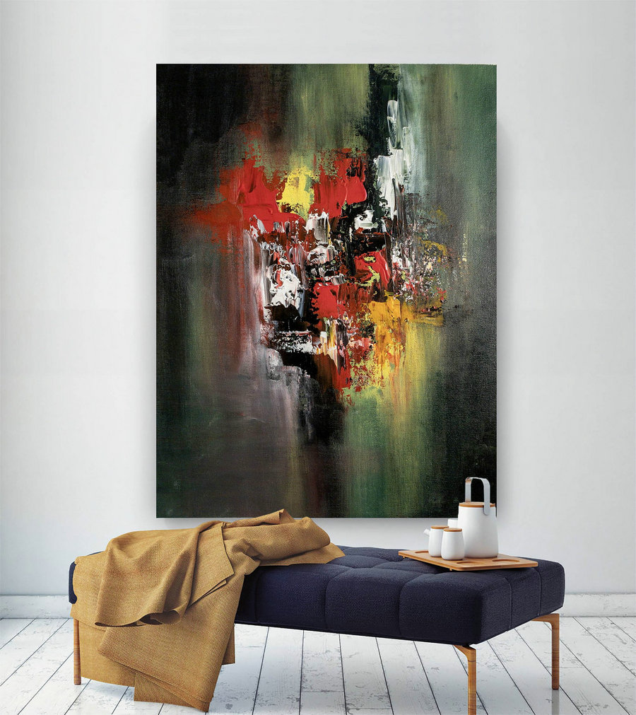 Original Abstract Canvas Art,Large Abstract Canvas Art,modern oil canvas,square painting,xl abstract painting BNc012
