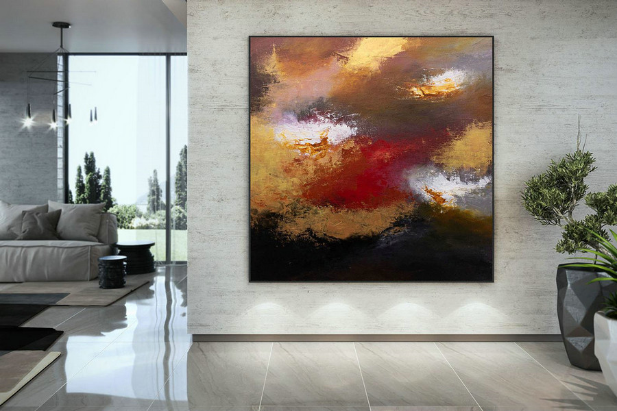 Large Abstract Painting,Modern abstract painting,original painting,large canvas art,xl abstract painting,art with texture DMC227