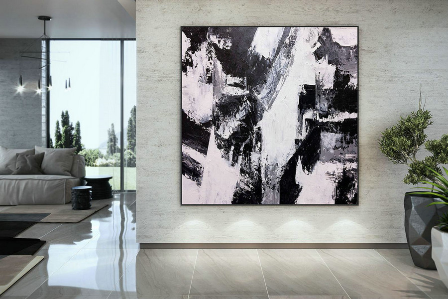 Large Painting on Canvas,Original Painting on Canvas,bright painting art,modern abstract,modern oil canvas,original textured DMC223