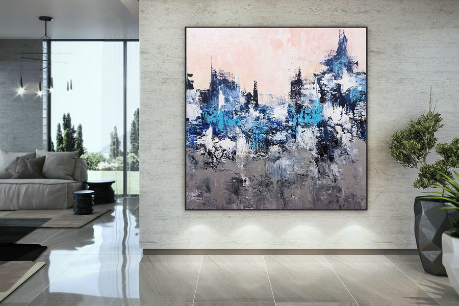Large Modern Wall Art Painting,Large Abstract Painting on Canvas,painting colorful,modern oil canvas,bathroom wall art DMC214