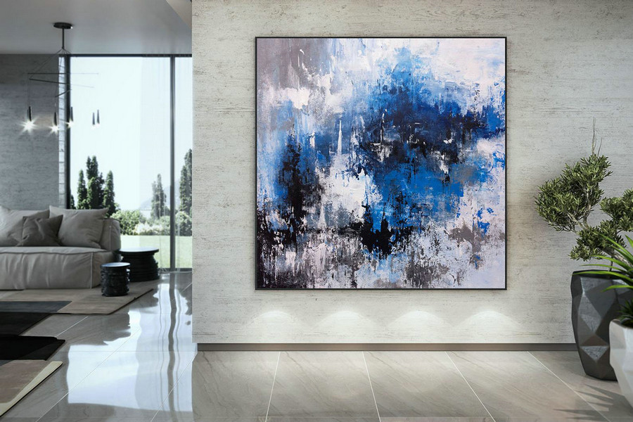 Extra Large Wall Art Palette Knife Artwork Original Painting,Painting on Canvas Modern Wall Decor Contemporary Art, Abstract Painting DMC204