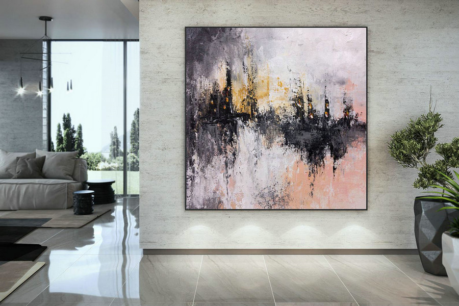 Extra Large Wall Art Palette Knife Artwork Original Painting,Painting on Canvas Modern Wall Decor Contemporary Art, Abstract Painting DMC203