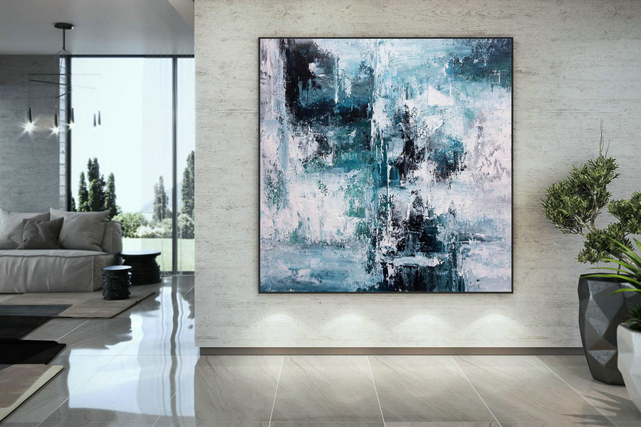 Large Modern Wall Art Painting,Large Abstract wall art,painting colorful,xl abstract painting,bedroom wall art DMC193