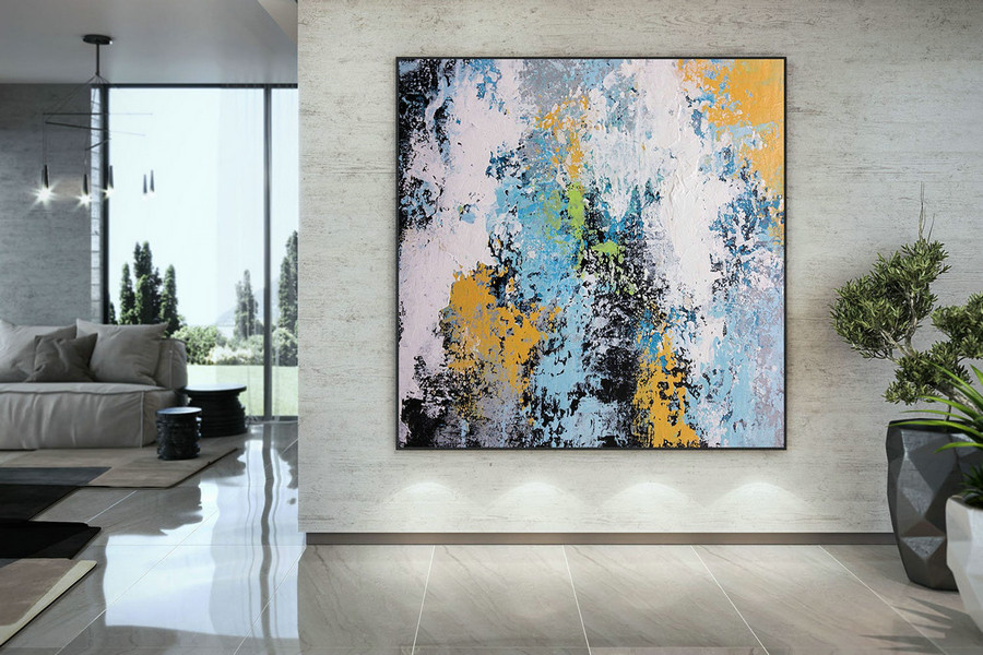 Extra Large Wall Art Palette Knife Artwork Original Painting,Painting on Canvas Modern Wall Decor Contemporary Art, Abstract Painting DMC188