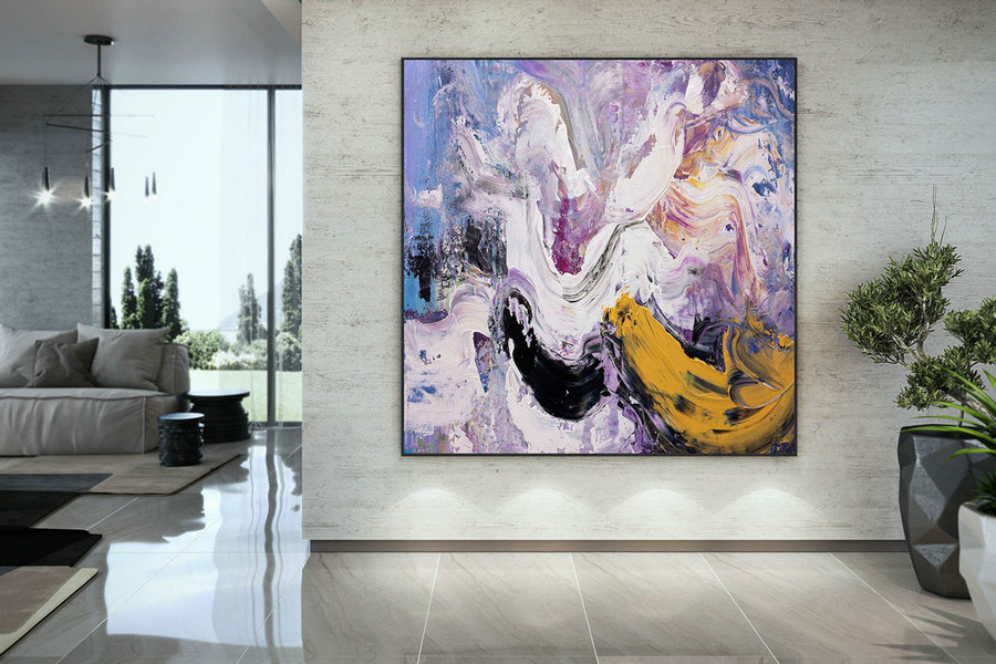 Extra Large Wall Art Palette Knife Artwork Original Painting,Painting on Canvas Modern Wall Decor Contemporary Art, Abstract Painting DMC176